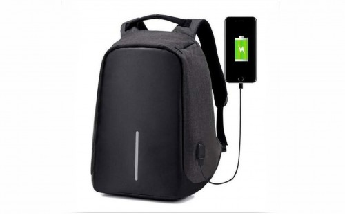 Anti-theft Travel Backpack Laptop School Bag with USB Charging Port